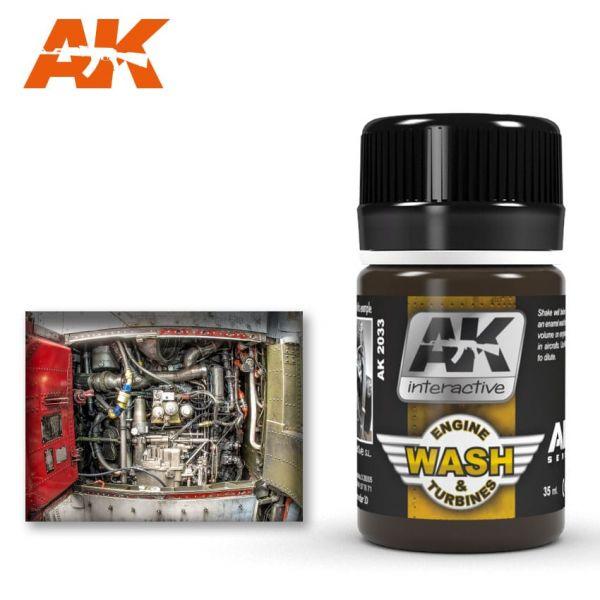 AK Interactive Wash Aircraft Engine
