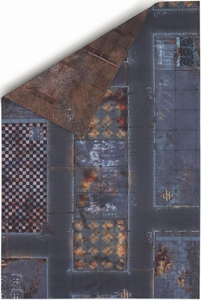 Gamemat 72x48 Zoll Double Sided Fallout/Quaratine Zone