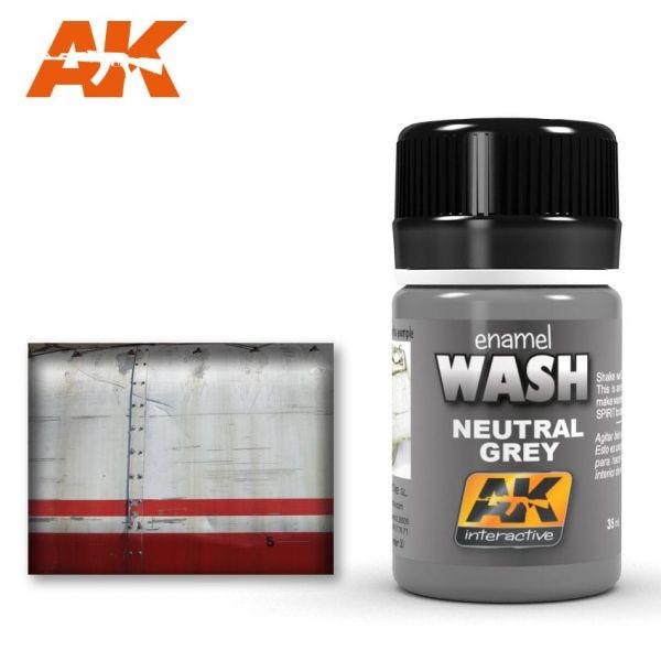 AK Interactive Neural Grey for White/Black Wash