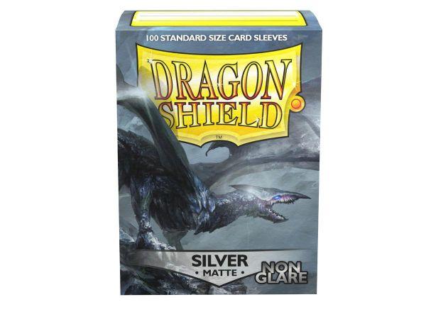 Dragon Shield 100 Matt Non Glare Silver