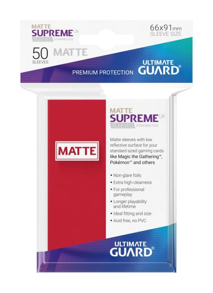 Supreme UX Sleeves Standard Size Matte Red