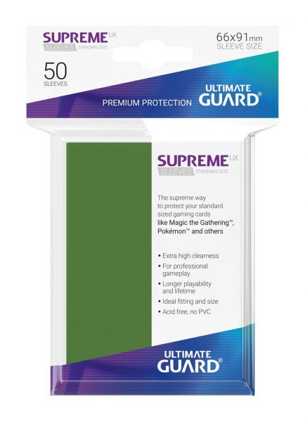 Supreme UX Sleeves Standard Size Green