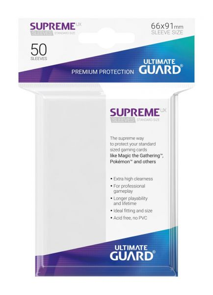 Supreme UX Sleeves Standard Size White