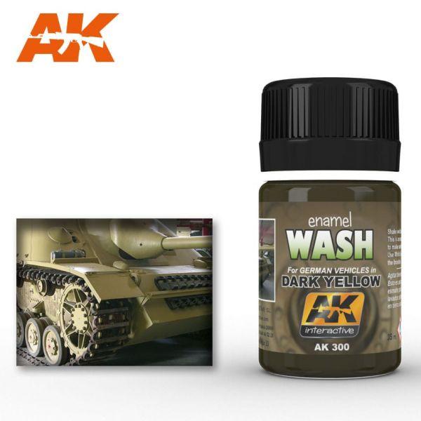 AK Interactive Wash for Dark Yellow Vehicles