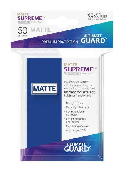 Supreme UX Sleeves Standard Size Matt Blue