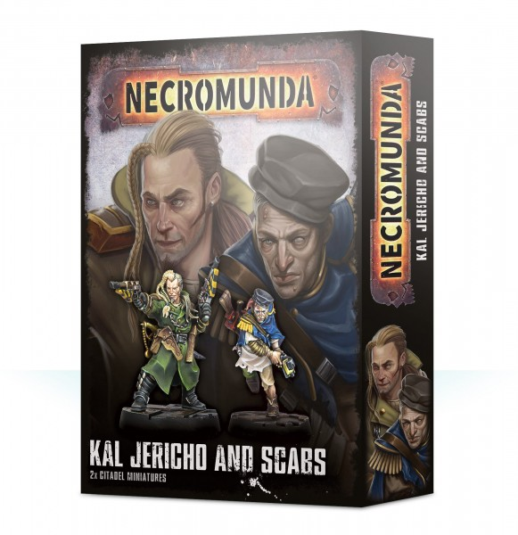 Necromunda Kal Jericho and Scabs